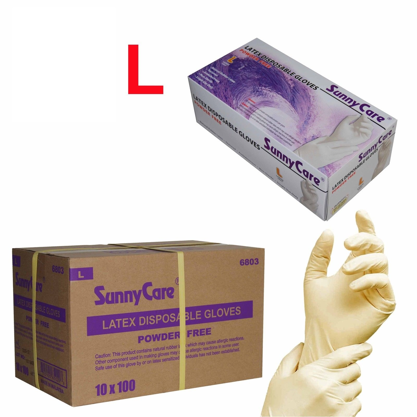 Sunnycare 174 Sunnycare 174 Latex Disposable Gloves Large