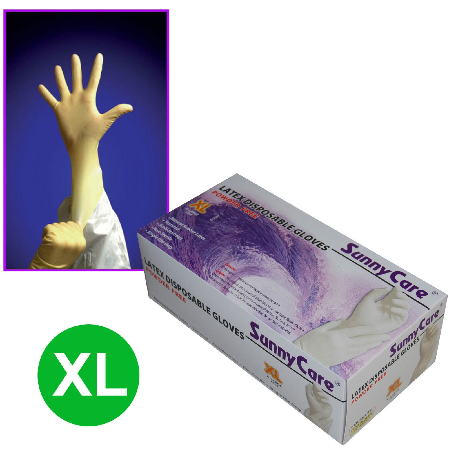 Sunnycare 174 Sunnycare 174 Latex Disposable Gloves X Large